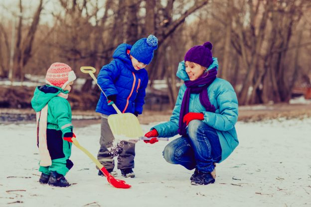 Make Your New Year's Resolution Spending More Time With Your Family! - Fivestar Landscaping - Snow Shoveling Service Calgary